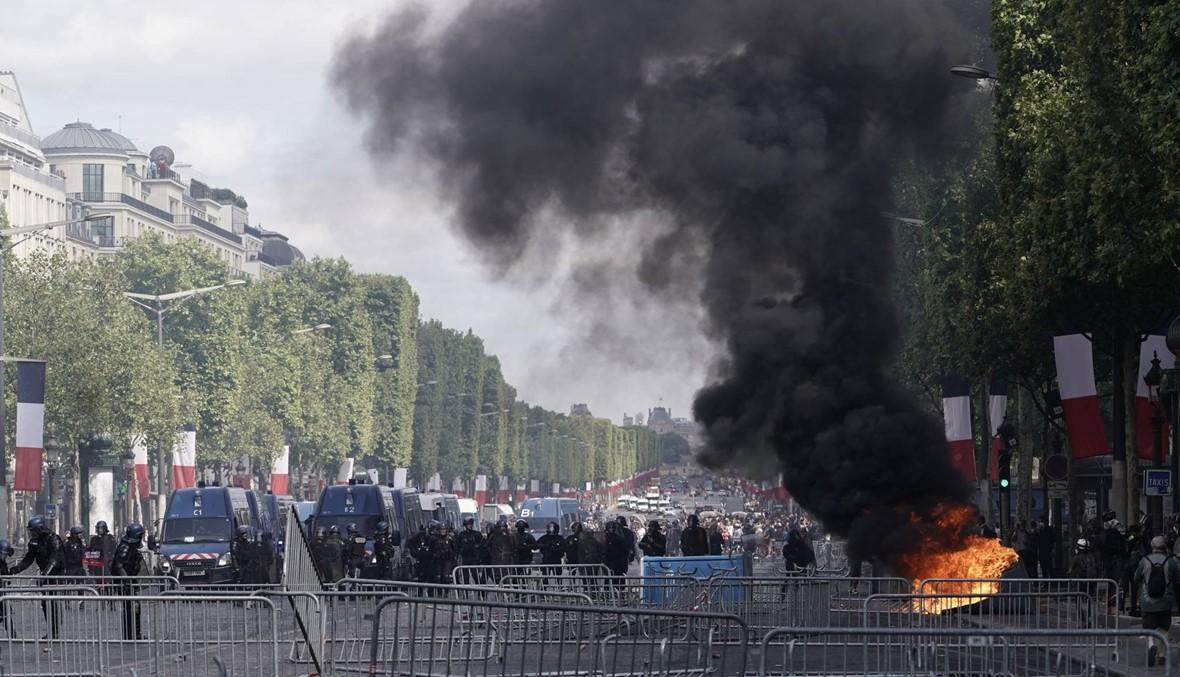 """العيد الوطني الفرنسي: مواجهات بين الشرطة و""""السترات الصفر"""" في باريس"""