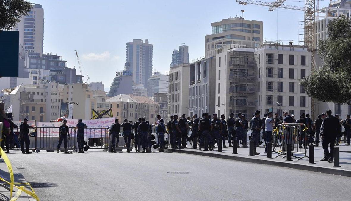 بالصور- اعتصام للعسكريين المتقاعدين في محيط مجلس النواب اعتراضاً على مشروع الموازنة