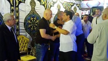 نجلا مبارك ونجوم الكرة المصرية في عزاء شقيق التوأمين حسام وإبرهيم حسن