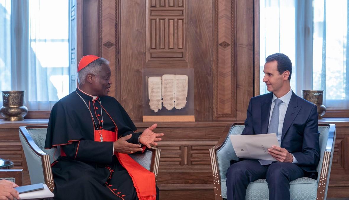 مبعوث للبابا فرنسيس في دمشق: رسالة إلى الأسد... الفاتيكان قلق تجاه الوضع في إدلب