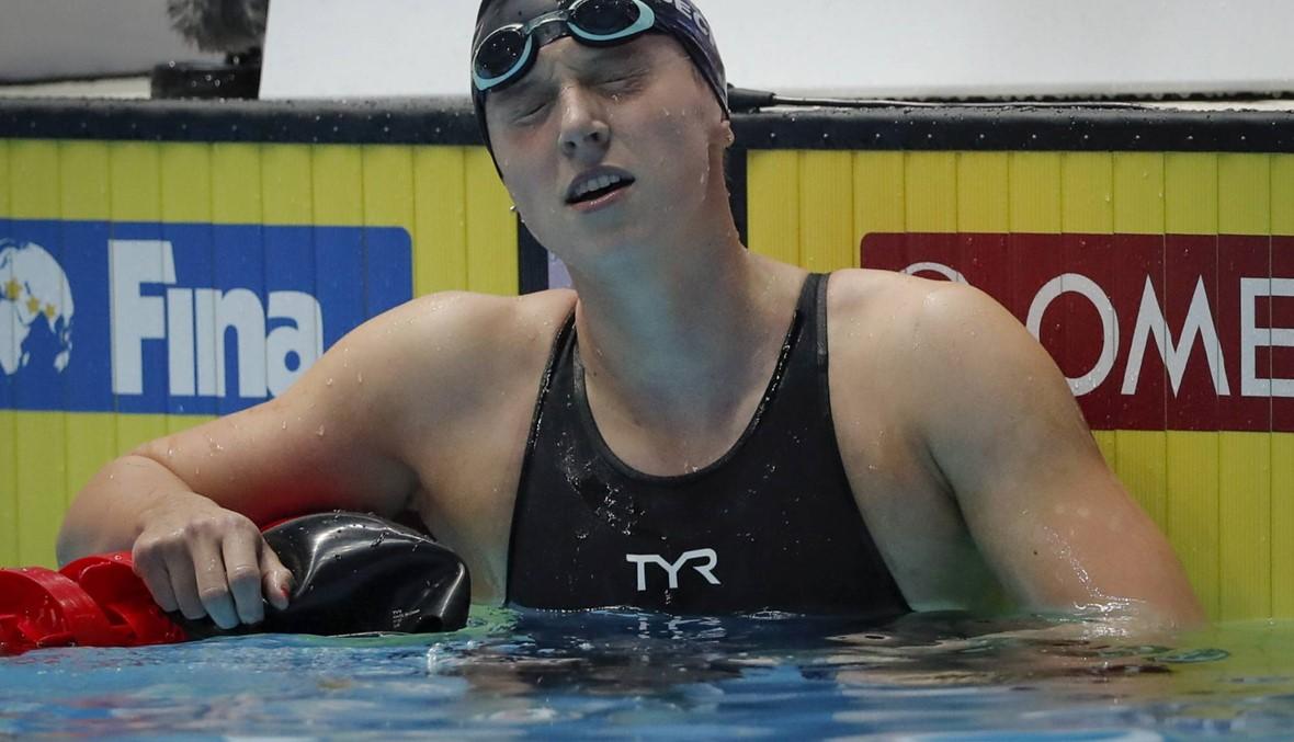 ليديكي تنسحب من نهائي 1500 م في مونديال السباحة