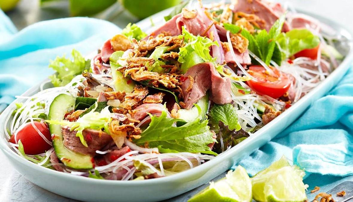 سلطة اللحم التايلاندية: مملكة خضار في صحنك!