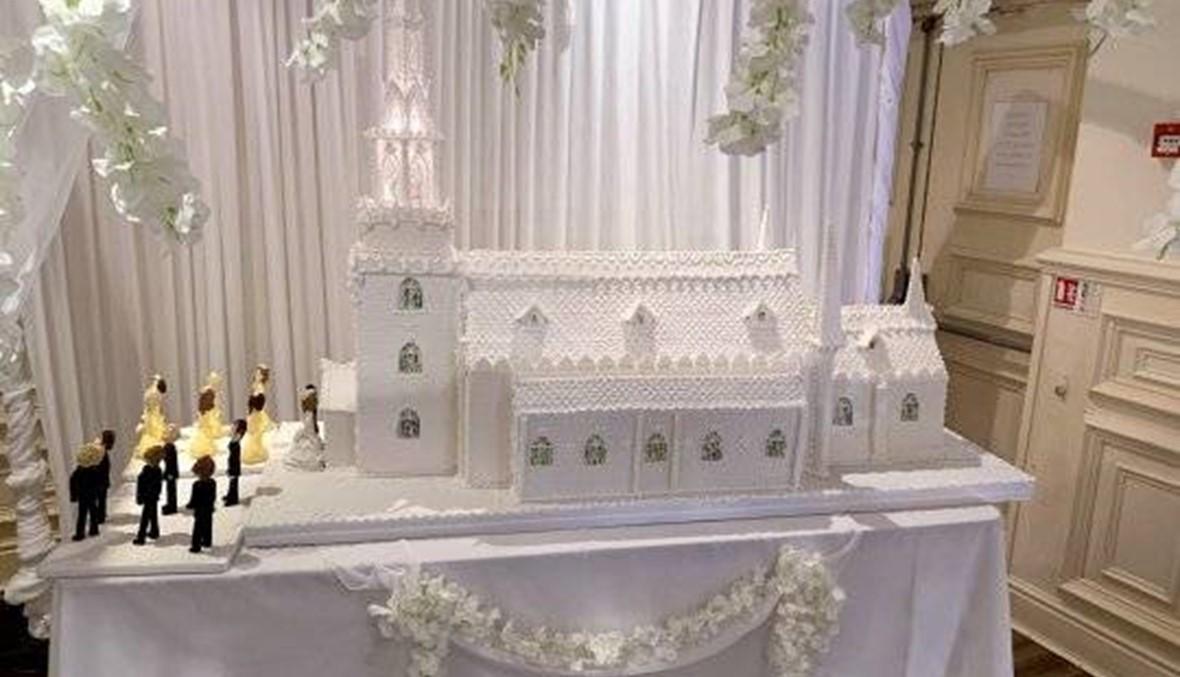 كعكة زفاف تتحوّل إلى تحفة فنية... طولها متران ونصف وتزن 44 كيلو