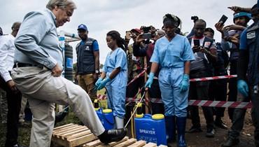"""غوتيريس في الكونغو الديموقراطيّة: زيارة """"تضامن"""" في مواجهة الإيبولا والعنف"""