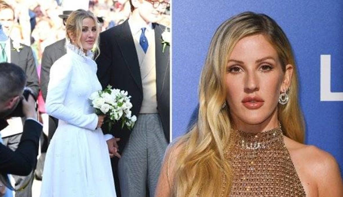 إيلي غولدنغ تتألّق في فستان زفاف استغرق تنفيذه 640 ساعة