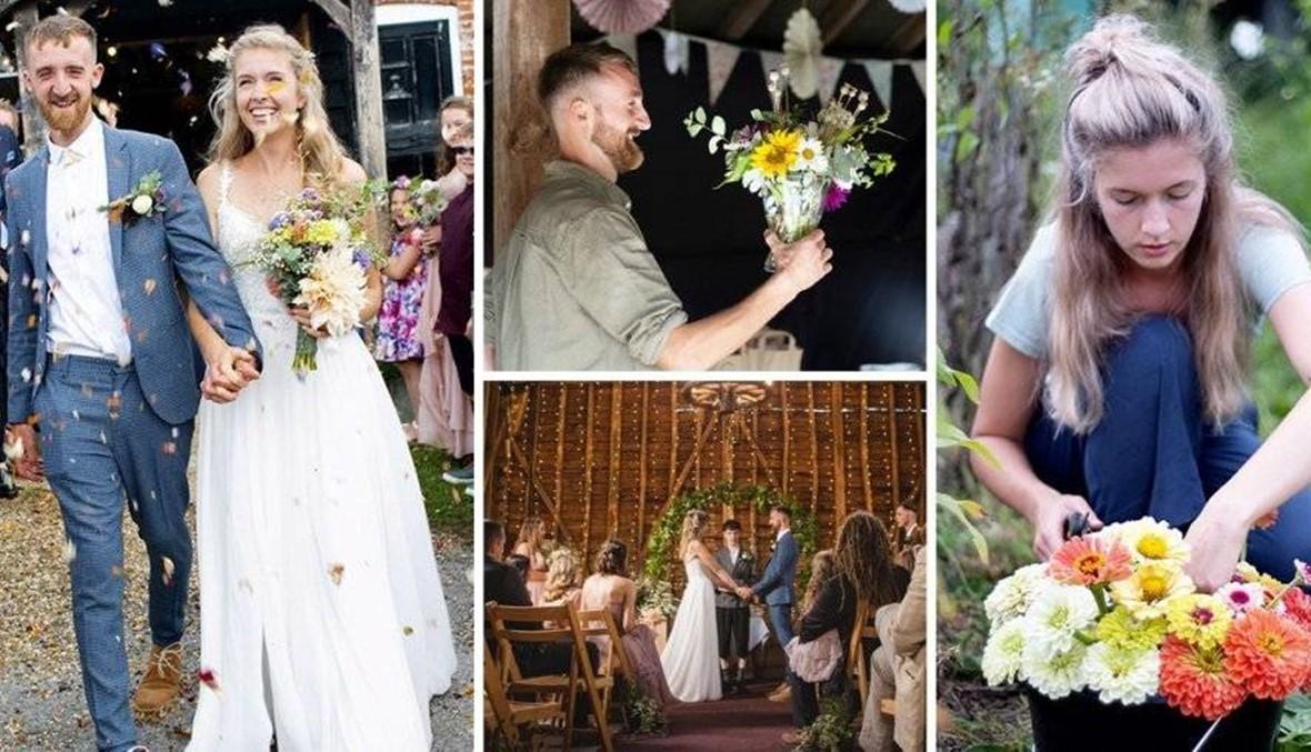 زرعا زهور حفل زفافهما فوفّرا 1600جنيه!