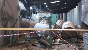 وفاة فنّي اثر انفجار في مصنع للكرتون... أبو فاعور تابع القضية