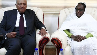 """شكري من الخرطوم: مصر """"تدعم رفع اسم السودان من قائمة الدول الراعية للإرهاب"""""""