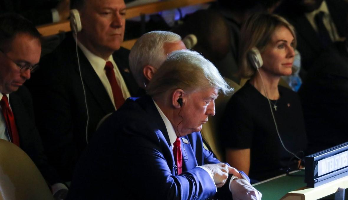 ترامب يفاجئ الحضور بمشاركته لدقائق في قمة المناخ في الأمم المتحدة (صور)