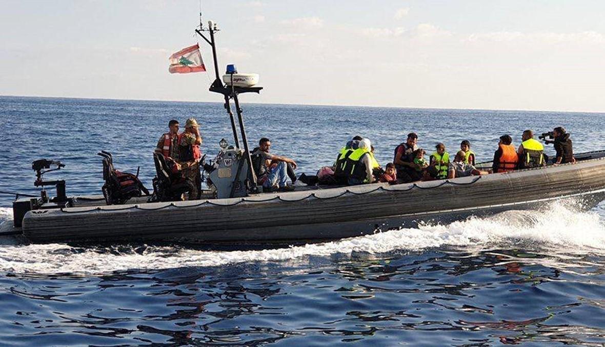 الجيش يوقف مركباً حاول المغادرة إلى قبرص بطريقة غير شرعية (صور)