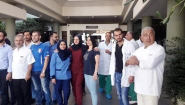 اعتصام لعمّال مستشفى نبيه بري الحكومي مطالبين بسلسلة الرتب والرواتب