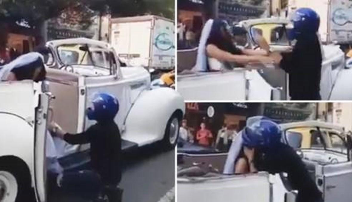 شاب يتوسّل حبيبته السابقة قبل لحظات من عقد قرانها (فيديو)