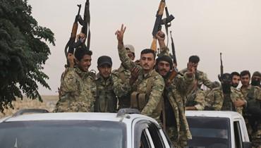 القوات التركية تتقدم داخل مدينة رأس العين الحدودية