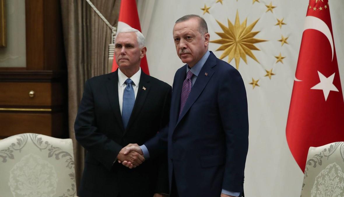 بنس التقى إردوغان في أنقرة: واشنطن تريد وقفاً لإطلاق النّار في سوريا