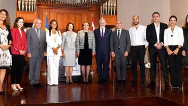 """ملكة أسوج زارت الجامعة الأميركية شراكة مع """"مينتور العربية"""" لدعم الشباب"""