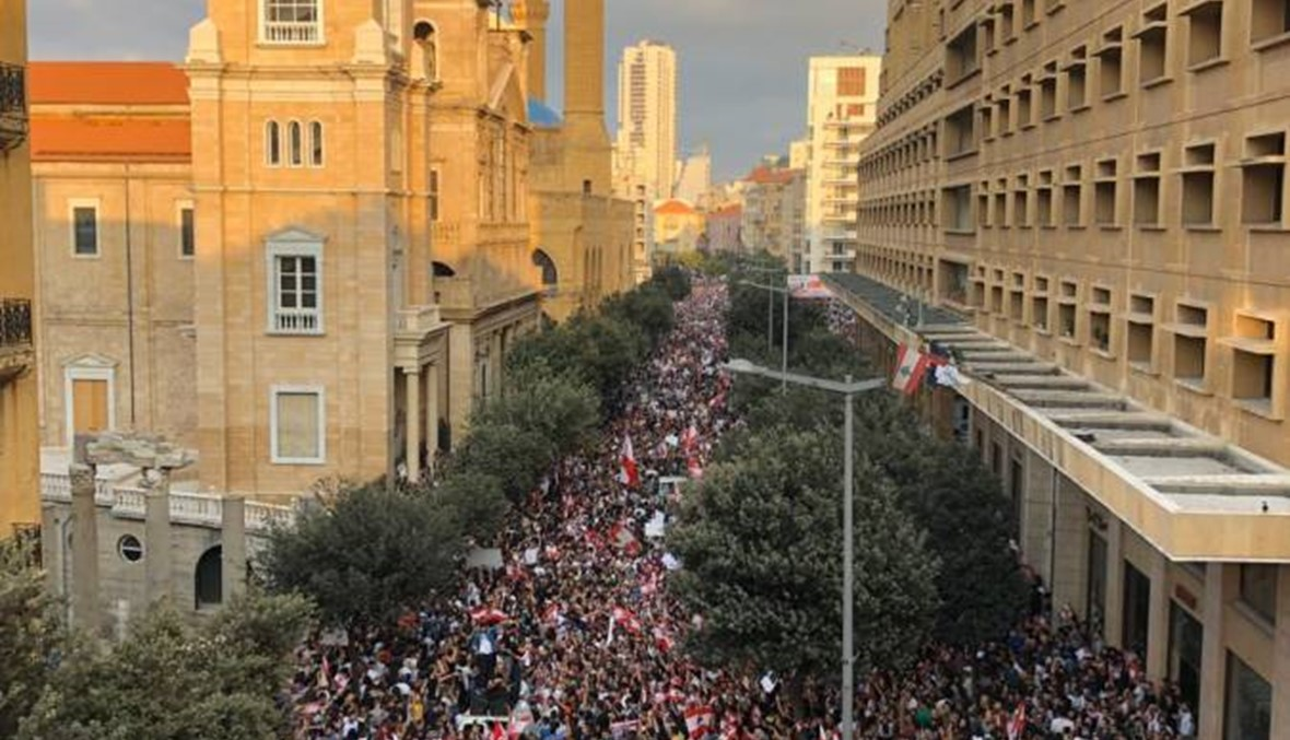 """بيروت بأبهى حلّة... ساحاتها امتلأت و""""أنا بتنفّس حرّية"""" (فيديوات وصور)"""