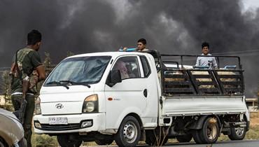 قافلة جرحى ومقاتلين من قوّات سوريا الديموقراطيّة تغادر رأس العين