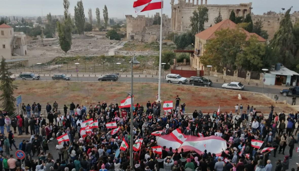 بعلبك: قطع طرق وتنديد بوضع الجيش في وجه المعتصمين