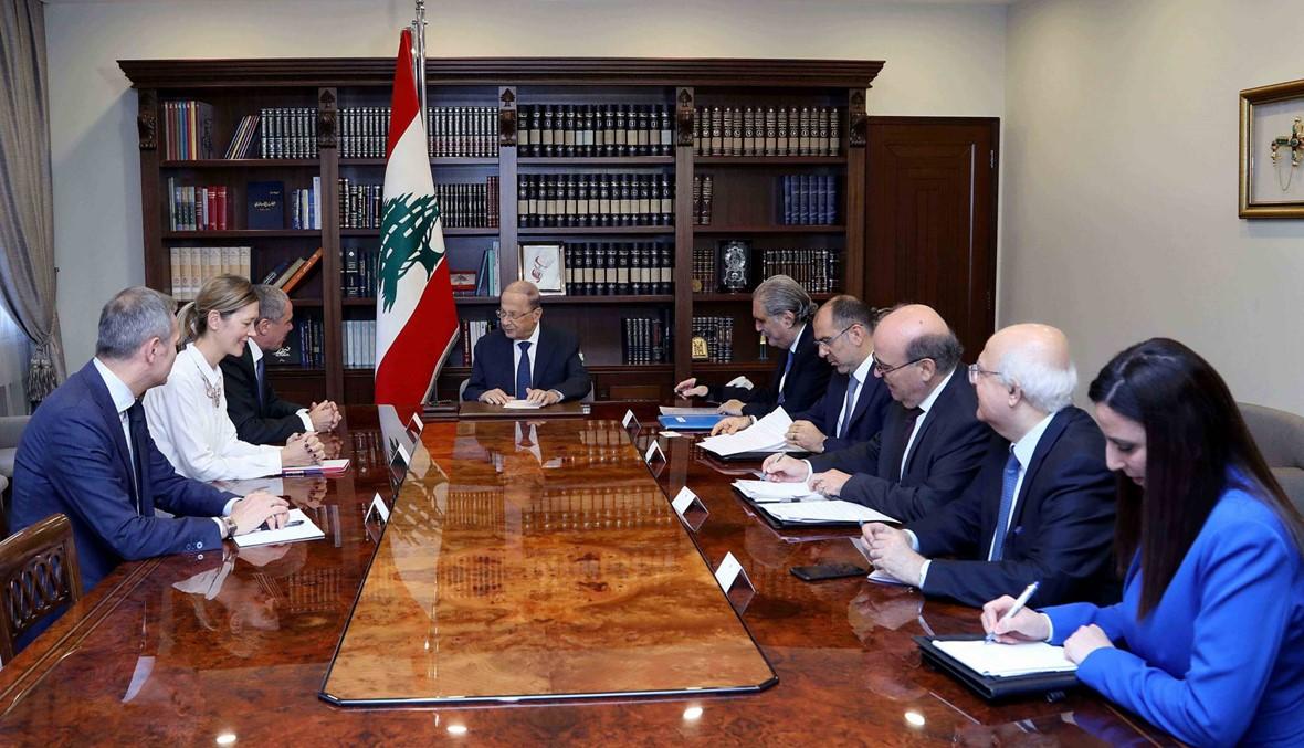 عون: ستعمل الحكومة العتيدة على تطبيق الورقة الاقتصادية للحكومة المستقيلة