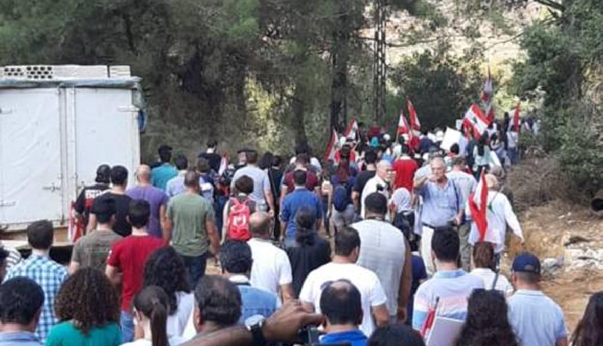 """بالصور والفيديو: صرخة احتجاجية.... """"أنقذوا مرج بسري"""""""