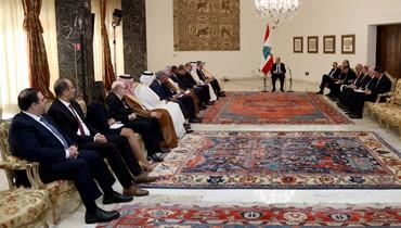 عون شرح للسفراء خصوصية النظام اللبناني وتركيبته... وحذر من الشائعات