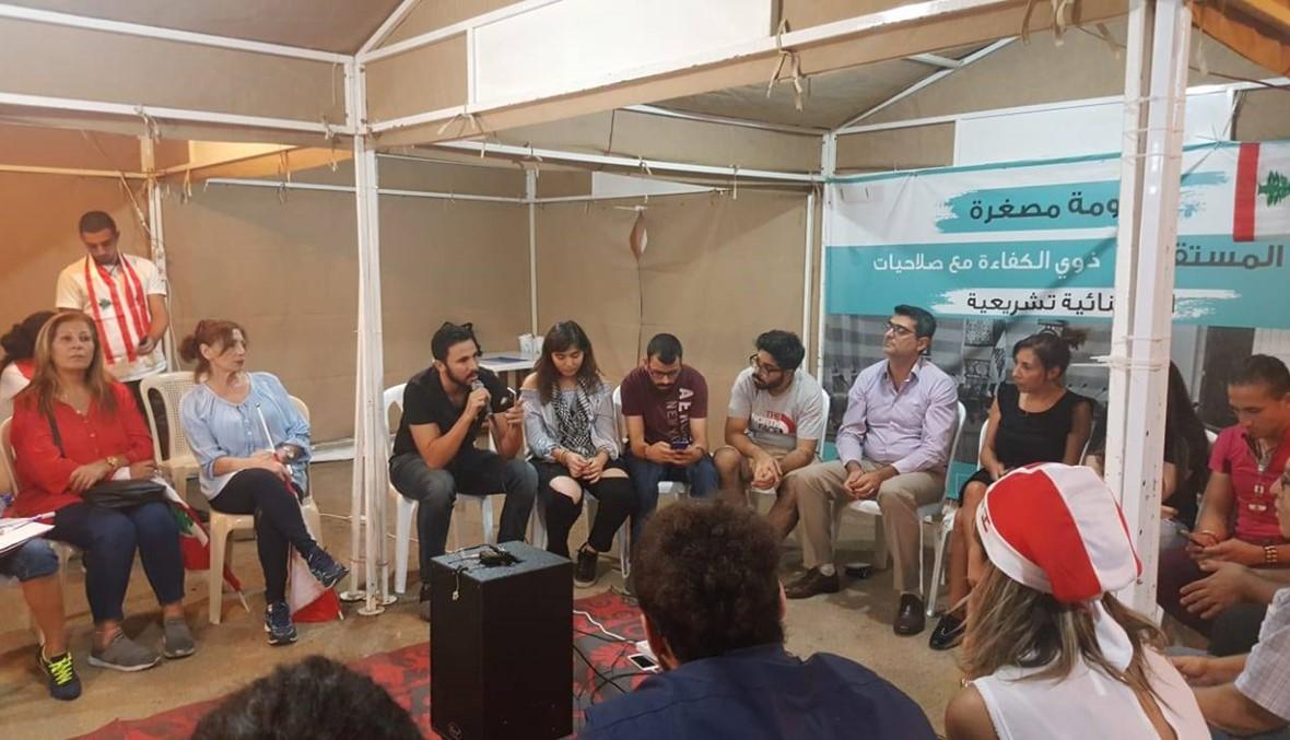 من خيمة إلى أخرى، المواضيع متنوّعة... الطلاب الثوار محور حلقات النقاش في بيروت