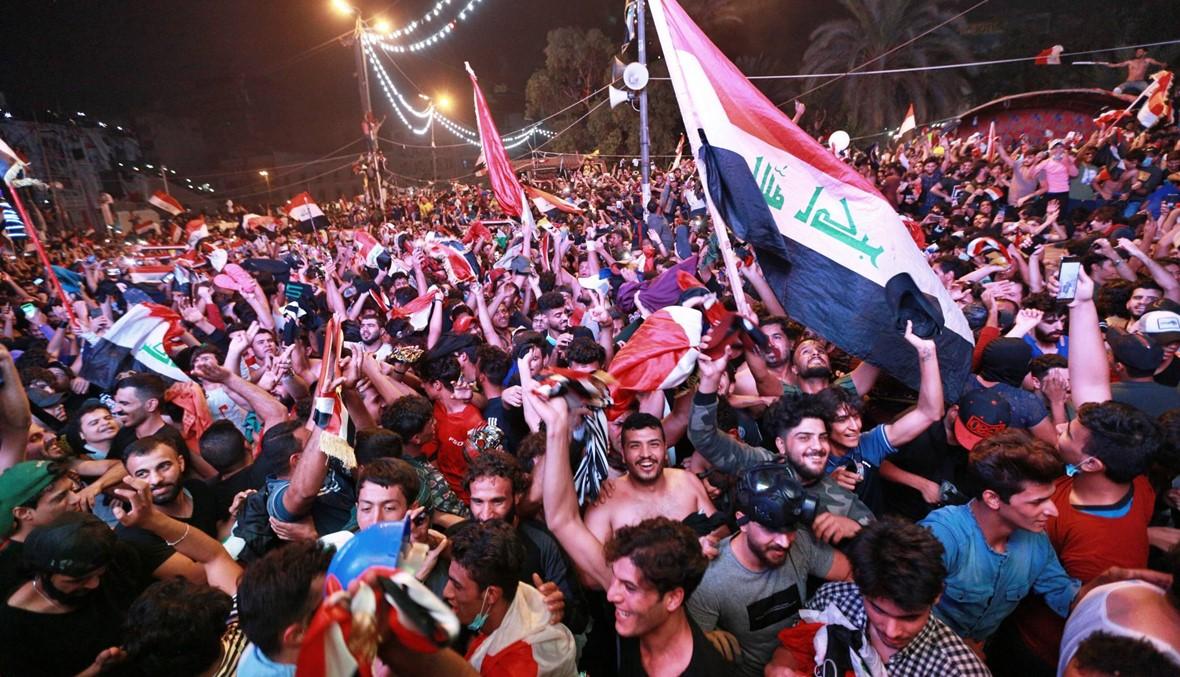 بالصورة: لاعب عراقي يرتدي كمامة تضامناً مع المتظاهرين