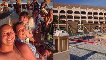 عائلة تصل إلى مصر لقضاء عطلة الأحلام ليكتشفوا أنّ الفندق لم ينتهِ بناؤه بعد