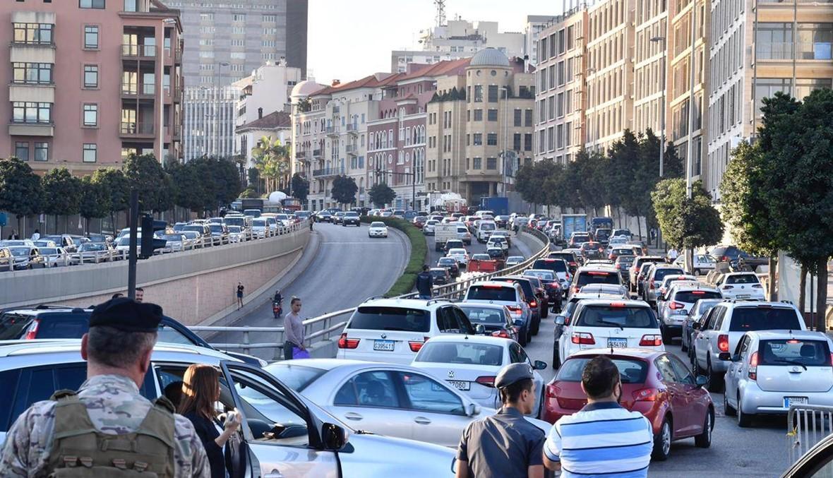 الإجراءات الأمنية تحتجز المواطنين في سياراتهم عند مداخل بيروت (صور)