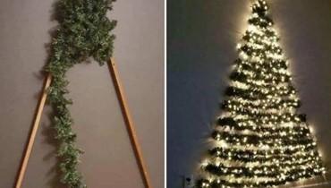 ابتكار عبقري لشجرة عيد الميلاد