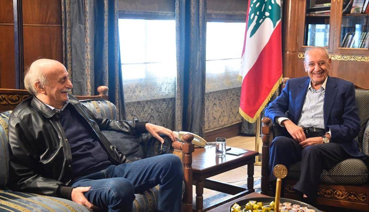 جنبلاط زار عين التينة ويزور الحريري مساءً: سنسمي كفاءات من حصتنا في الحكومة