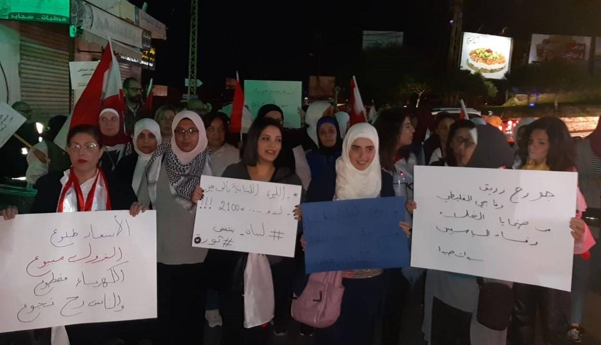 صيدا: التظاهرات متواصلة ودعوات للإضراب غداً (صور وفيديو)
