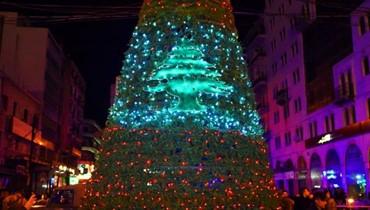 شجرة ميلاد ساحة النور تجسد المحبة والسلام