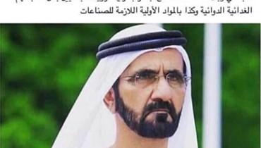 "هل أبدى حاكم دبي الاستعداد ""لفتح جسر بحري مع لبنان""؟ FactChecking#"