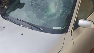 تحطيم سيارة الزميل ميشال حلاق خلال اقتحام سرايا حلبا