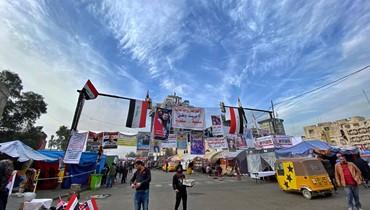 نشاطات المعتصمين السلمية في ساحة التحرير في بغداد وزارة صحة مصغرة ومستشفيات ومطابخ ومساعدات وحرّاس