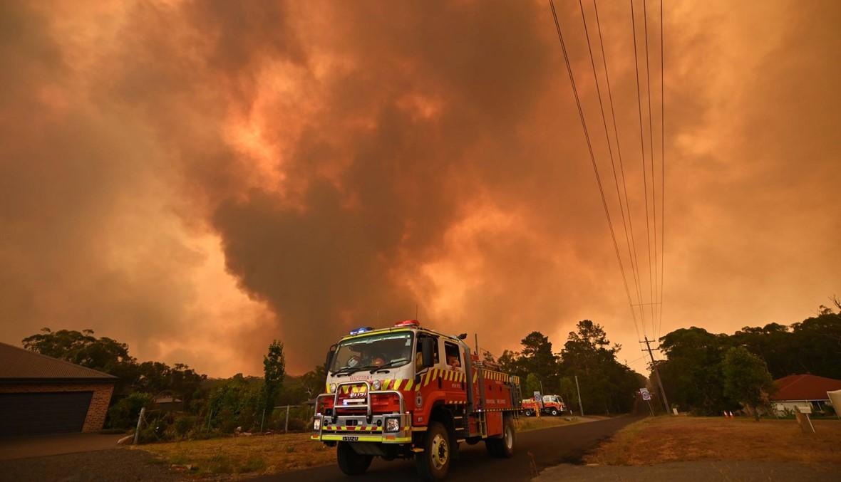 الحرائق لا تزال مستعرة في أوستراليا: موريسون يتفقد الإطفائيّين بعد تعرضه لانتقادات