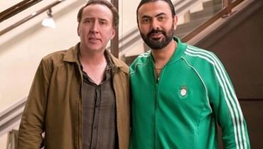 """محمد كريم يحتفل بفيلمه مع نيكولاس كيدج بالقاهرة... """"رجل لا يخشى الموت"""""""