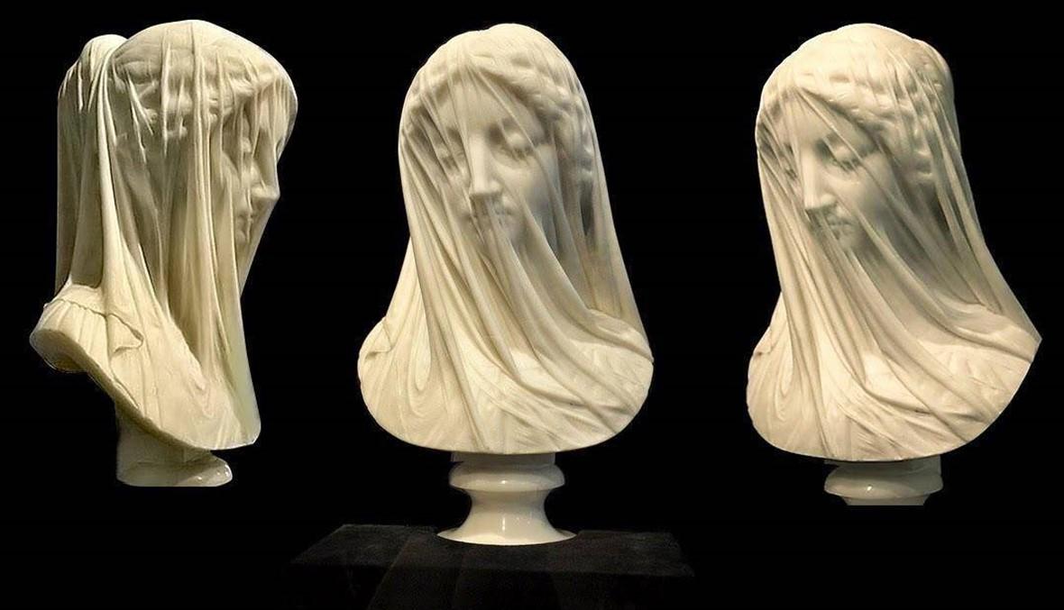 """تمثال """"العذراء المحجّبة"""" يشغل عالم النحّاتين... وجه مريم المُفعَم بالنقاء والروحانيّة"""