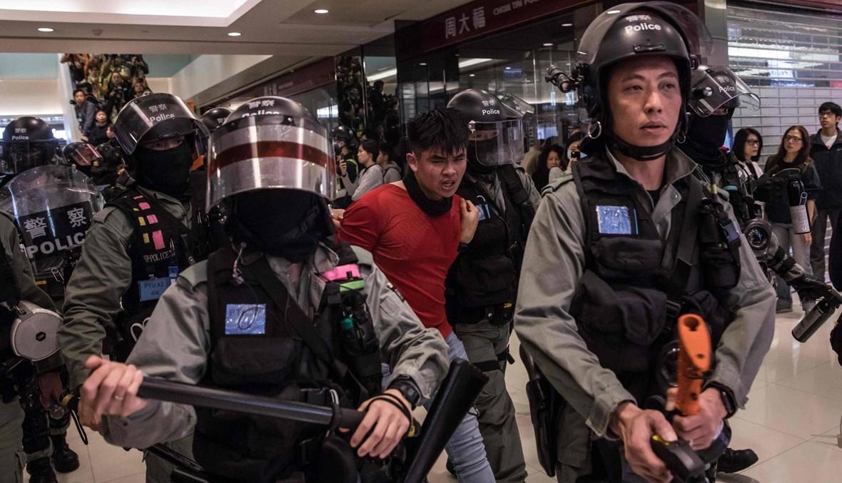 تجدد الاحتجاجات داخل مراكز تجارية في هونغ كونغ وتوقيف 15 شخصاً