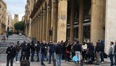 اعتصام أمام مجلس النواب تزامناً مع جلسة لجنة الإعلام والاتصالات (صور - فيديو)