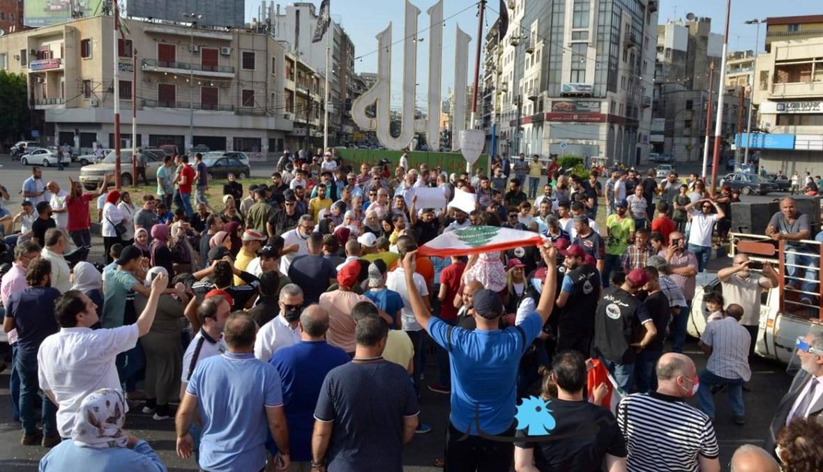 وقفة احتجاجية في ساحة النور رفضاً للاعتقالات وتضامناً مع كيندا الخطيب