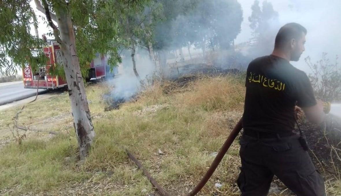 حرائق في عكار والدفاع المدني يعمل على إخمادها