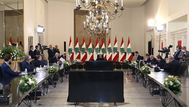 Aoun calls for civil peace during Baabda talks