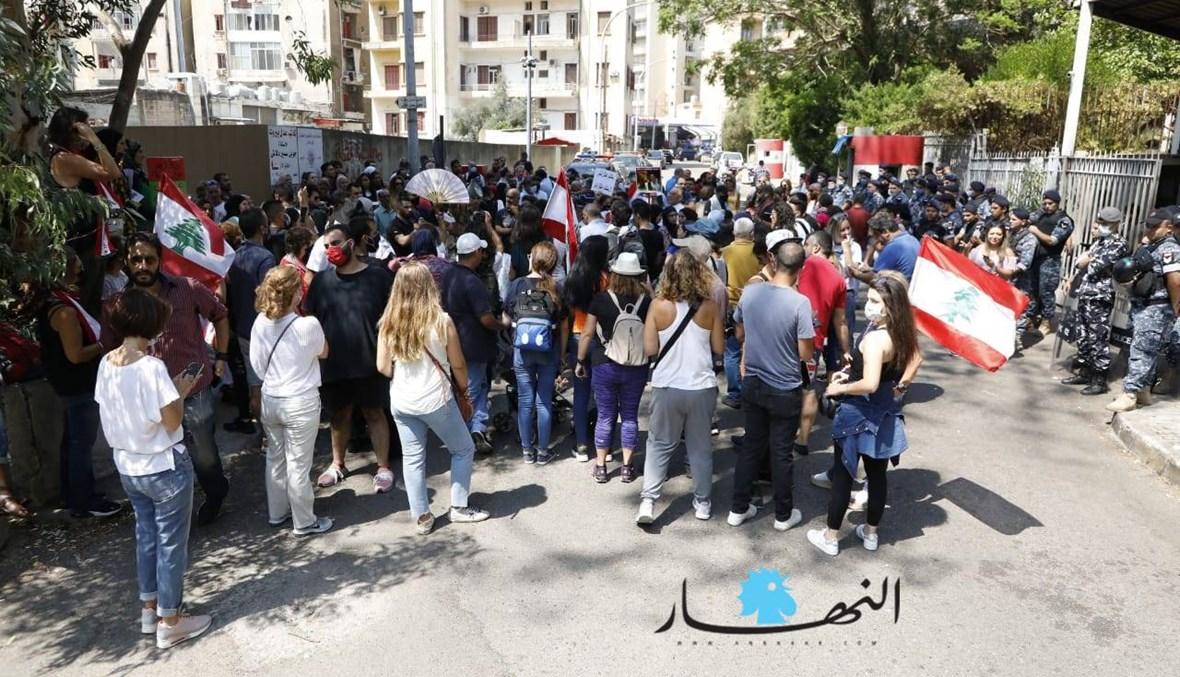 """وقفة احتجاجية أمام قصر العدل... """"تسقط تلك المنظومة الفاسدة"""" (صور - فيديو)"""