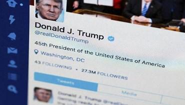"""""""تويتر"""" أزالت صورة نشرها ترامب بسبب حقوق الملكية الفكرية"""