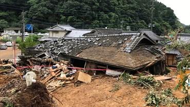 سيول وانهيارات أرضيّة في اليابان: 20 قتيلاً و14 مفقوداً، وتوقّع هطول مزيد من الأمطار