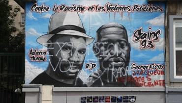 تخريب جدارية تمثّل جورج فلويد وأداما تراوري قرب باريس
