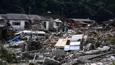 """أمطار غزيرة و""""عجز تام""""... تخوّف من ارتفاع حصيلة قتلى فيضان اليابان"""
