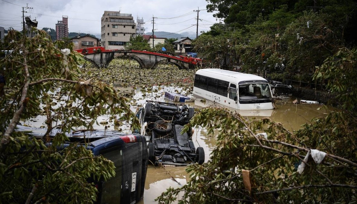 فيضانات اليابان: فرق الإغاثة تكافح للوصول إلى آلاف العالقين في مناطق متضرّرة